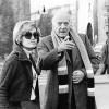 Montserrat Nebot a Perpinyà amb Josep Tarradellas, que havia convocat una reunió del Consell Consultiu. Finals de 1976.