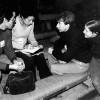 "M. Eugenia Ibáñez entrevista a Albert Boadella al teatre ""Bouffes du Nord"". París, abril de 1978."