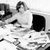 Maria Àngels Masó a la redacció del diari.