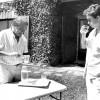 Maria Favà amb el president Jordi Pujol a Queralbs el 25 de juliol de 1975.